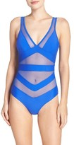 Ted Baker Women's Illiana Mesh Detail One-Piece Swimsuit