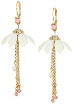 Betsey Johnson Flower Chain Drop Earrings Earring