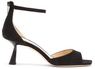 Jimmy Choo Reon 65 Spool-heel Suede Sandals - Black