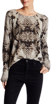 Zadig & Voltaire Snakeskin Printed Cashmere Sweater