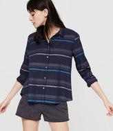 Lou & Grey Shoreline Cropped Button Down Shirt
