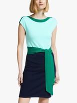 Boden Vera Knitted Dress, Blue/Green