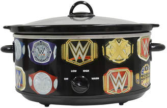 WWE Uncanny Brands 7 Quart Slow Cooker With Removable Ceramic Bowl