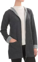 Jones New York Hooded Cardigan Sweater - Merino Wool, Zip Front (For Women)