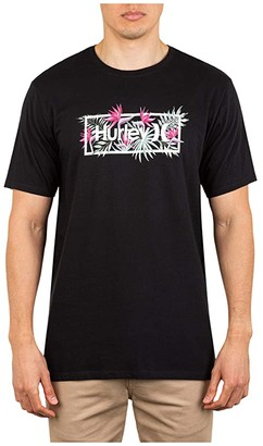 Hurley One Only Exotics Short Sleeve Tee (Black) Men's Clothing