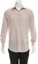Etro Plaid Long Sleeve Button-Up