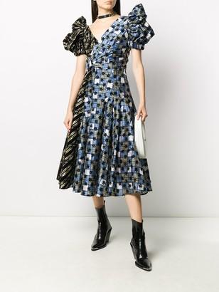Chopova Lowena Panelled Puff-Sleeve Dress