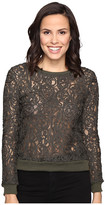 Romeo & Juliet Couture Lace Long Sleeve Textured Top