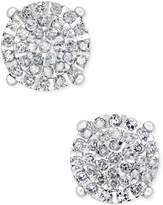 Macy's Diamond Cluster Stud Earrings (1/2 ct. t.w.) in Sterling Silver