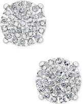 Macy's Diamond Cluster Stud Earrings (1/2 ct. t.w.) in Sterling Silver