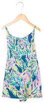 Lilly Pulitzer Girls' Abstract Print Sleeveless Romper