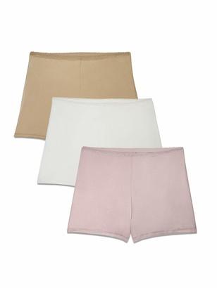 Vanity Fair Brilliance by Women's 3-Pack Undershapers Light Control Boyshort Panty 42301