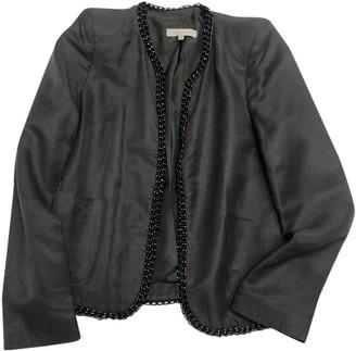 Sandro Grey Linen Jacket for Women