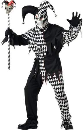 Express Fun Evil Jester Adult Halloween Costume