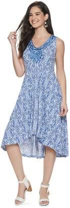 Women's World Unity Sleeveless Front Applique Dress