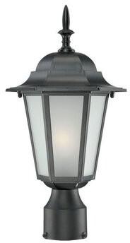 Raleigh Charlton Home Outdoor 1-Light Lantern Head Charlton Home Finish: Matte Black