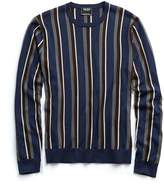 Todd Snyder Italian Silk/Cotton Vertical Stripe Sweater
