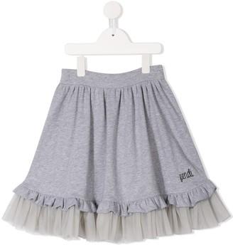 Fendi Kids Tulle Hem Skirt