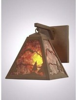 Mica Timber Ridge Hanging 1-Light Outdoor Wall Lantern Steel Partners Finish: Rust, Shade Color: Amber
