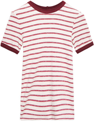 Enza Costa Striped Stretch-jersey T-shirt