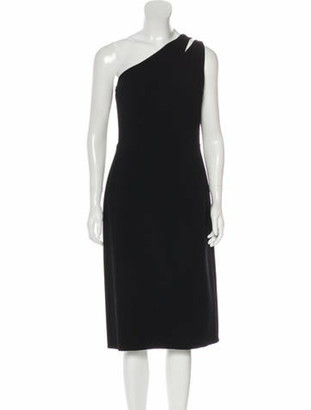 Oscar de la Renta 2019 Wool Dress Black