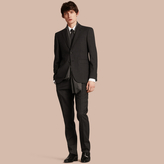 Burberry Modern Fit Check Wool Part-canvas Suit