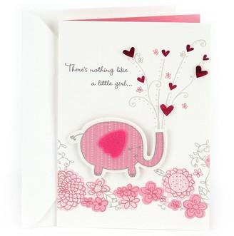 "Hallmark Congratulations ""Pink Elephant"" Baby Girl Greeting Card"