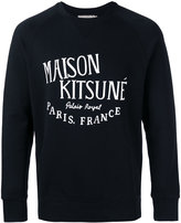 MAISON KITSUNÉ logo print sweatshirt - men - Cotton - L
