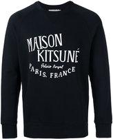 MAISON KITSUNÉ logo print sweatshirt - men - Cotton - M