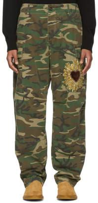 Dolce & Gabbana Green and Brown Camo Cargo Pants