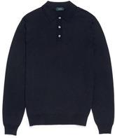 Incotex Stretch knit long sleeve polo shirt