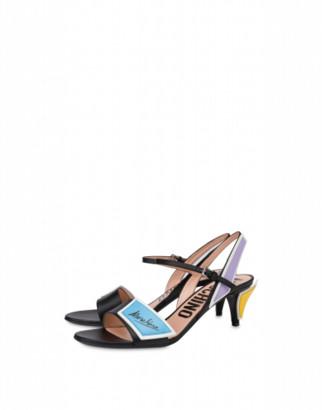 Moschino Slice Calfskin Sandals