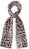 Saint Laurent Wool Printed Scarf