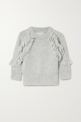 Apiece Apart Aldama Fringed Alpaca-blend Sweater - Gray