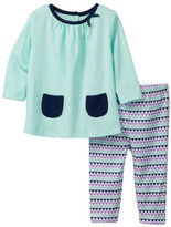 Offspring Triangles Tunic & Legging Set (Baby Girls 3-9M)