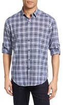 James Campbell Men's Oakley Regular Fit Plaid Sport Shirt