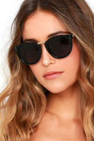 LuLu*s Marty Gold and Black Sunglasses