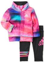 adidas Newborn/Infant Girls) Two-Piece Tie-Dye Tricot Set