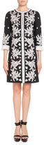 Andrew Gn Embroidered 3/4-Sleeve Coat