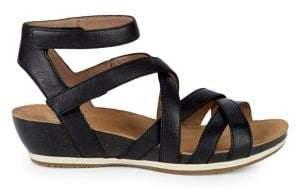 Dansko Veruca Leather Cutout Sandals