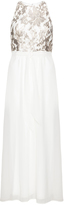 Ariella Plus Size Sequin chiffon evening dress