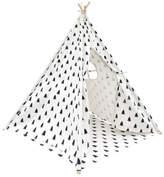 4 Poles Teepee Tent w/ Storage Bag Black White