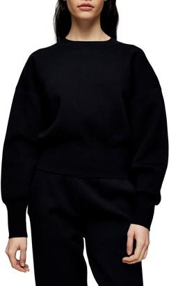Topshop Crop Sweatshirt
