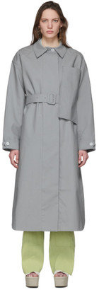 Jacquemus Grey Le Manteau Camiseto Long Coat
