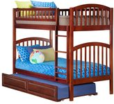 Atlantic Richland Walnut-colored Twin-over-twin Raised-panel Trundle Bed