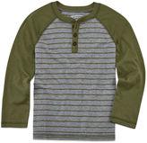 Arizona Long-Sleeve Fashion Henley Tee - Preschool Boys 4-7