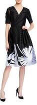 Carolina Herrera Floral-Printed A-Line Dress