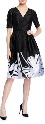 Carolina Herrera Floral-Printed A-Line Dress
