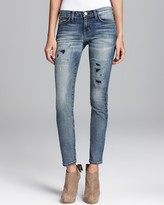 Current/Elliott Jeans - The Ankle Skinny in Pixie with Repair