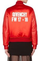 Givenchy Dutchess Satin & Leather Bomber Jacket